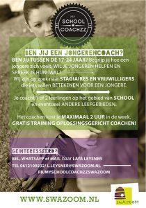 My School Coachzz poster - Ben jij een jongerencoach?